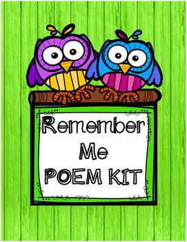 Remember Me Poem Kit