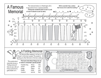 Remember On Memorial Day Two-Page Activity Set