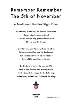 Remember, Remember the Fifth of November - A Traditional Poem