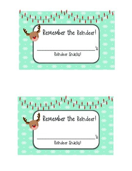 Remember The Reindeer