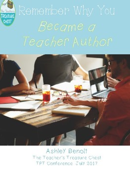 Remember Why We Became Teacher Authors