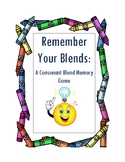 Remember Your Blends a Consonant Blends Memory Game