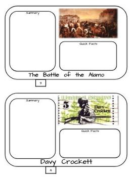 Remember the Alamo! Flipbook - Google Drive- Interactive Notebook Possibility