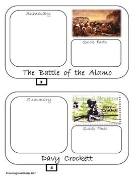 Remember the Alamo! Flipbook in .pdf - Interactive Notebook Possibility