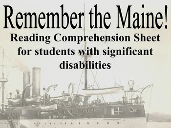 Remember the Maine for Students with Significant Disabilities