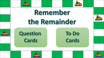 Remember the Remainder Basic Division Game