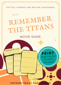 Remember the Titans (2000) Movie Guide Packet + Activities + Sub Plan