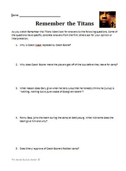 Remember the Titans Movie Guide