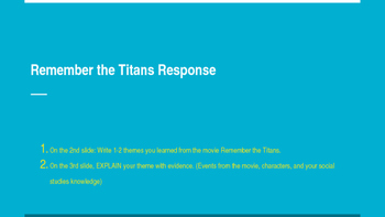 Remember the Titans Movie Response