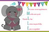 Remember to SMILE Elephant Behavior Poster