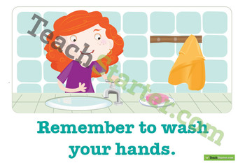 Remember to Wash Your Hands Poster