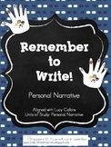 Remember to Write - Writing Process Reminder - Use with LC
