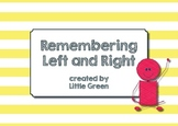 Remembering Left and Right - Posters and Ideas