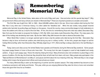 Memorial Day Mini Unit