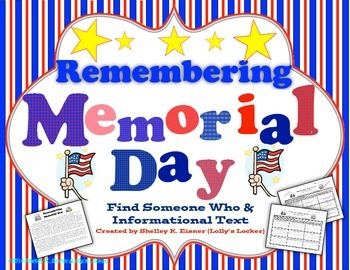 Remembering Memorial Day Find Someone Who