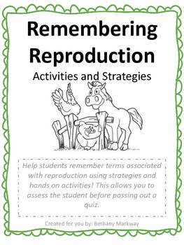 Reproduction: Activities and Strategies!