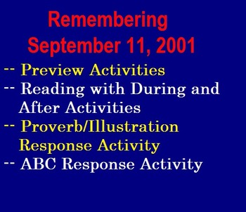Remembering September 11, 2001 Worksheet (Preview Act., Re