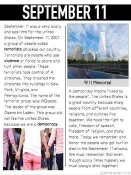 September 11 Reading Passages