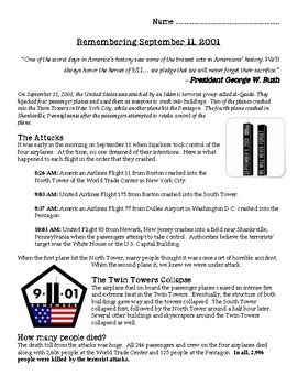Remembering September 11 Article & Foldable