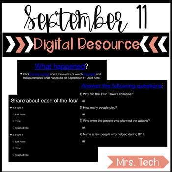 Remembering September 11 Digital Resource