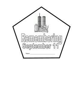 Remembering September 11th / 9-11 Shape Book