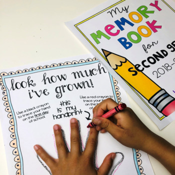 Remembering The School Year Memory Book & Time Capsule Activity w/Editable Cover