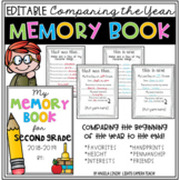 Comparing The School Year Memory Book & Time Capsule Activity