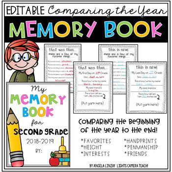 Remembering The School Year Memory Book & Time Capsule Act