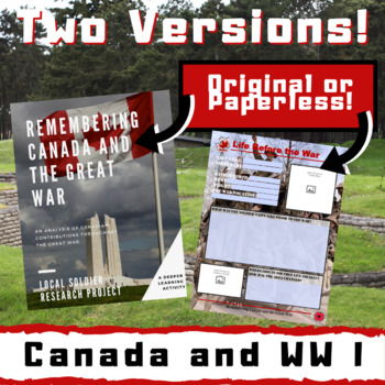 Remembering Canada and the Great War - Local Soldier Research Project!