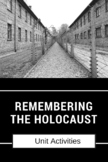 Holocaust Projects -7 Different Activities (w/ directions, rubrics & samples)