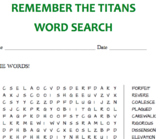 Remember the Titans Vocabulary Word Search