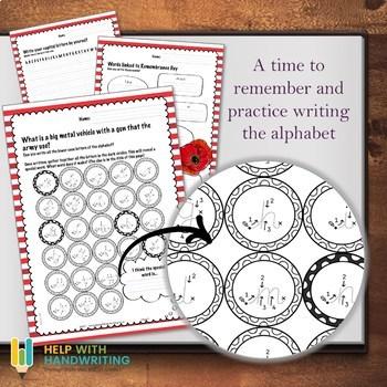 Remembrance Alphabet Worksheets