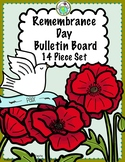 Remembrance Day 12 Piece Bulletin Board Set in English & F