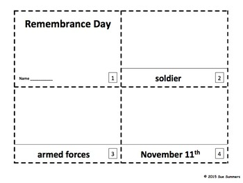 Remembrance Day 2 Emergent Reader Booklets