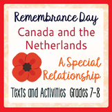 Remembrance Day Canadian History Canada and the Netherlands Grades 7-8
