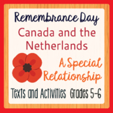 Remembrance Day Canadian History Canada and the Netherlands Grades 5-6