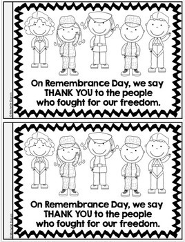Remembrance Day informational booklet