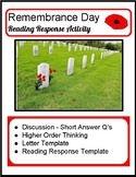 Remembrance Day - Reading Response