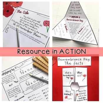 Remembrance Day Activities Australia - Writing / Maths - Years 5 - 6