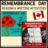 Remembrance Day Activities BUNDLE, Grades 3-5