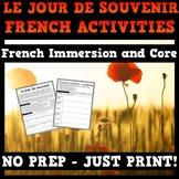 Remembrance Day Activities French Core/Immersion - Le jour de souvenir