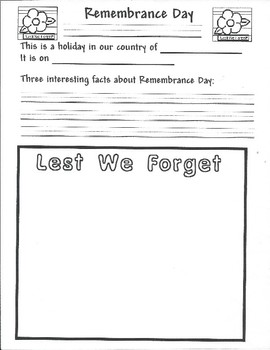 Remembrance Day Activity