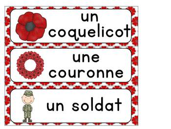 Jour du Souvenir:  Remembrance Day Activity Booklet in French