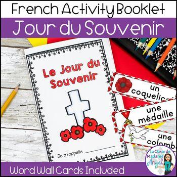 Jour du Souvenir:  French Remembrance Day Activity Booklet