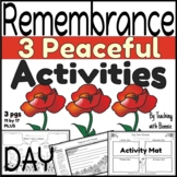 Remembrance Day Activity Mat: Peace: In Flander's Field: When I See a Poppy