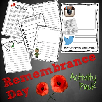 Remembrance / Veterans Day Activity Pack
