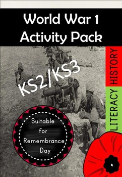 World War I and Remembrance Day Activity Pack