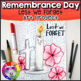 Remembrance Day Art Lesson, Lest We Forget Art Project