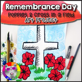 Remembrance Day Art Project, Poppies in a Field