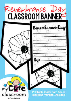 Remembrance Day Banner {Bunting, Garland, Pennant Display}